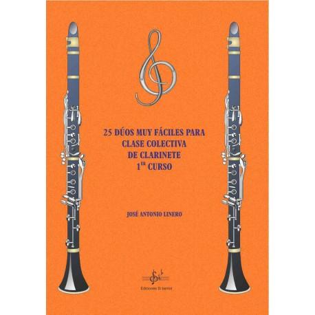 25 Dúos muy fáciles para Clases Colectivas de Clarinete 1er Curs