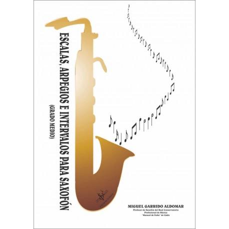 Escalas, Arpegios e Intervalos para Saxofón