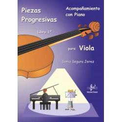 Piezas progresivas para Viola con acompañamiento de piano - Libro 1º