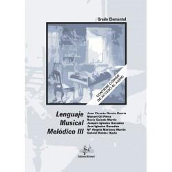 Lenguaje Musical Melódico III (con CD)