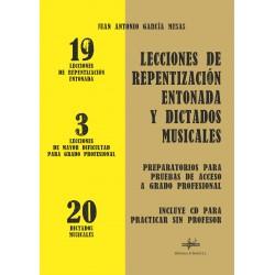 Lecciones de Repentización Entonada y Dictados Musicales (con CD)