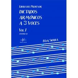Libro del profesor - Dictados Armónicos a 3 Voces Vol.I (Audio en App)